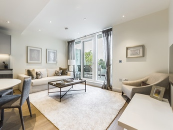 A fabulous brand new, direct Battersea Park facing, 2 bedroom apartment with a large terrace.