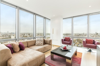 Stunning two bedroom apartment to rent in One West India Quay