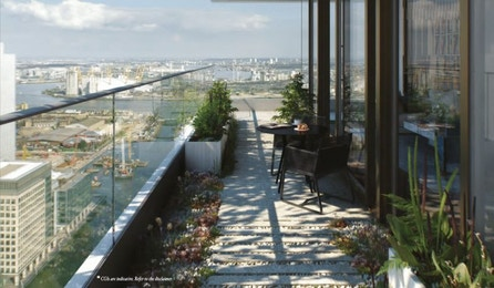 One bedroom apartment in one of E14's most highly anticipated developments, The Wardian.